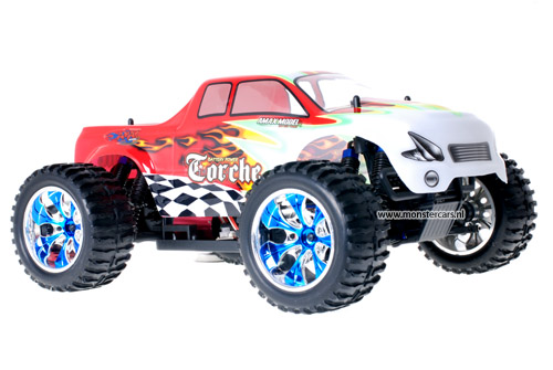 Himoto Brushless Truck White Red 2.4GHz AANBIEDING!